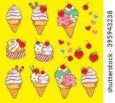 ice cream illustration | Shutterstock . vector #395943238