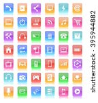 glossy button icon | Shutterstock .eps vector #395944882