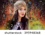woman's face  magic of figures  ... | Shutterstock . vector #395948368