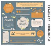 set of modern quote bubbles... | Shutterstock .eps vector #395959666