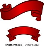 two red banner | Shutterstock . vector #39596203