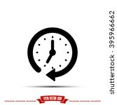 clock icon  | Shutterstock .eps vector #395966662
