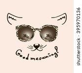 good meowing. vector... | Shutterstock .eps vector #395970136