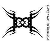 tattoo tribal vector design... | Shutterstock .eps vector #395983246