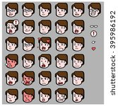 emotican face cute | Shutterstock .eps vector #395986192