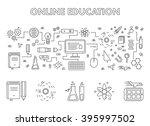 line design concept web banner... | Shutterstock . vector #395997502