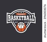 sport basketball logo. american ... | Shutterstock .eps vector #396003076