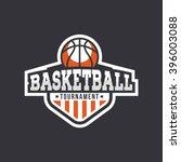 sport basketball logo. american ...   Shutterstock .eps vector #396003088