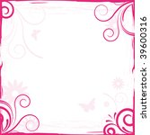 abstract pink floral background ... | Shutterstock .eps vector #39600316
