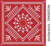 indian tribal painting. warli... | Shutterstock .eps vector #396005146