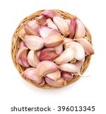 Garlic Cloves Isolated In...