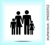 family sign icon  vector... | Shutterstock .eps vector #396020512