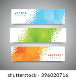 set of three modern geometric... | Shutterstock .eps vector #396020716