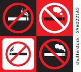 No Smoking Sign  Vector Format.