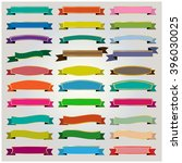 set colorful ribbons and... | Shutterstock .eps vector #396030025