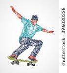 abstract  skateboarder  athlete | Shutterstock .eps vector #396030238