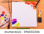 tools of the artist. drawing ... | Shutterstock . vector #396032206