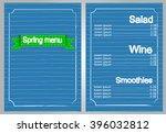 restaurant spring menu card...