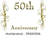 50th anniversary on a solid... | Shutterstock . vector #39604306