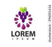 grapes logo | Shutterstock .eps vector #396051616