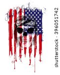 skull print rock star human... | Shutterstock . vector #396051742