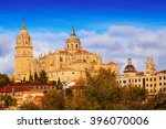 cathedral of salamanca in... | Shutterstock . vector #396070006