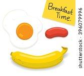 breakfast time illustration ... | Shutterstock .eps vector #396079996