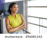 portrait of a confident black... | Shutterstock . vector #396081142