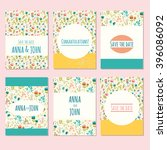can be used for save the date ... | Shutterstock .eps vector #396086092