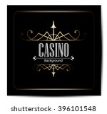 casino logo icon poker cards or ... | Shutterstock .eps vector #396101548