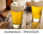 refreshing summer pint of beer... | Shutterstock . vector #396103225