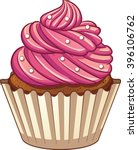cartoon cupcake. vector clip... | Shutterstock .eps vector #396106762