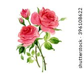 Watercolor Sketch Of Roses