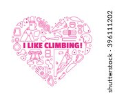 equipment for climbing.round... | Shutterstock .eps vector #396111202