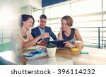 image of three succesful... | Shutterstock . vector #396114232