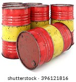 A Rusted Oil Barrel Isolated O...