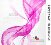 pink modern abstract lines... | Shutterstock .eps vector #396132256