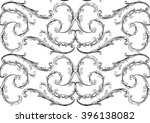 black and white pattern with... | Shutterstock .eps vector #396138082