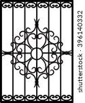 vector window lattice | Shutterstock .eps vector #396140332