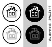 vector icons of home | Shutterstock .eps vector #39615649