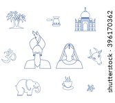 Set Of Icons In The Style Of A...