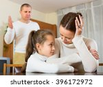 family of three with little... | Shutterstock . vector #396172972