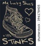 old sneakers tee graphic | Shutterstock .eps vector #396178405
