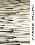 stack of business report paper... | Shutterstock . vector #396183988
