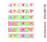 colorful triangle bookmarks set | Shutterstock . vector #396188758