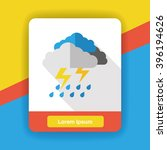 weather raining flat icon   Shutterstock .eps vector #396194626