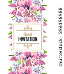abstract flower background with ... | Shutterstock .eps vector #396198988