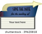 drive in marquee as a save the... | Shutterstock .eps vector #39620818