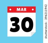 calendar icon flat march 30