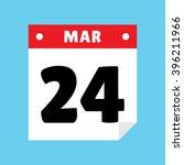 calendar icon flat march 24